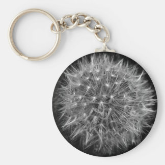 Dandelion keyring basic round button key ring