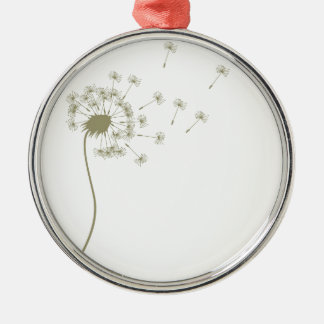 Dandelion Metal Ornament