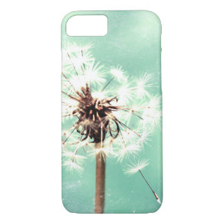 Dandelion, Mint Green, Phone Case