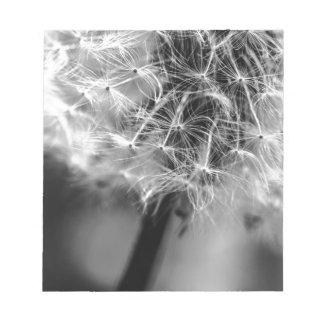 Dandelion Monochrome Notepad