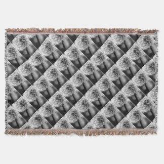 Dandelion Monochrome Throw Blanket