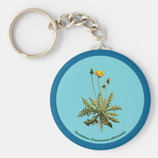 Dandelion On Blue Key Ring