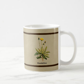 Dandelion On Old Paper Coffee Mug