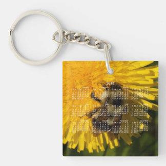 Dandelion Pollenator; 2013 Calendar Single-Sided Square Acrylic Key Ring
