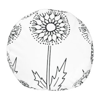 Dandelion Print on a pouf