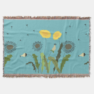 Dandelion Print Throw