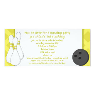 Dandelion Roll on Over Bowling Birthday Party Personalized Announcement