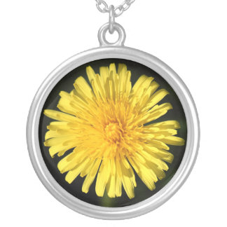 Dandelion Round Pendant Necklace