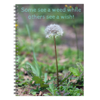 Dandelion see a wish notebook