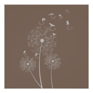 Dandelion Seed Thieves Poster
