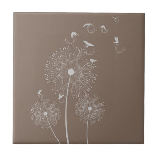 Dandelion Seed Thieves Small Square Tile