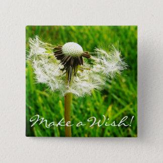 Dandelion Seeds 15 Cm Square Badge