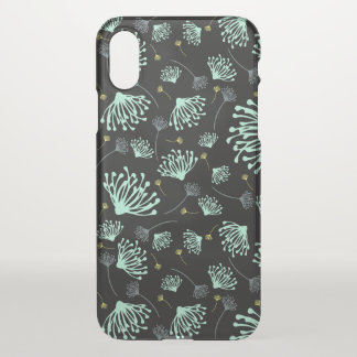 Dandelion Silhouette Black iPhone X Case