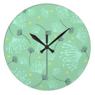 Dandelion Silhouette Large Clock