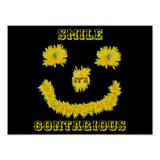 Dandelion Smiley Face Poster