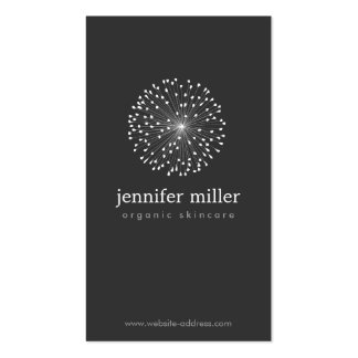 DANDELION STARBURST LOGO II on DARK GRAY Pack Of Standard Business Cards