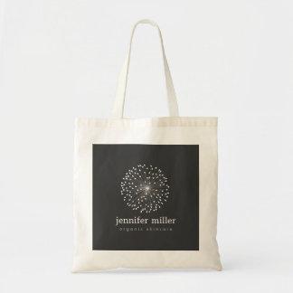 DANDELION STARBURST LOGO in WHITE Customizable Tote Bag
