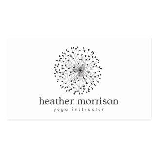 DANDELION STARBURST LOGO on WHITE Business Card Templates
