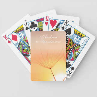 Dandelion Sunrise Bicycle Playing Cards