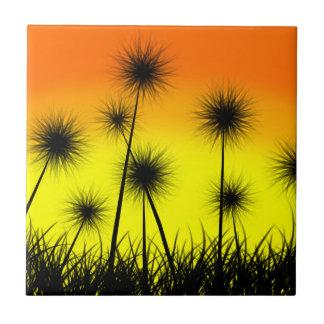 Dandelion Sunrise Ceramic Tile