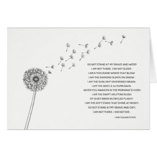 Dandelion Sympathy Card for Loss