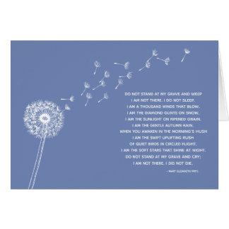 Dandelion Sympathy Card for Loss, Blue