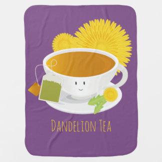 Dandelion Tea Cup Character | Baby Blanket
