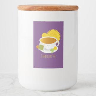 Dandelion Tea Cup Character | Food Label