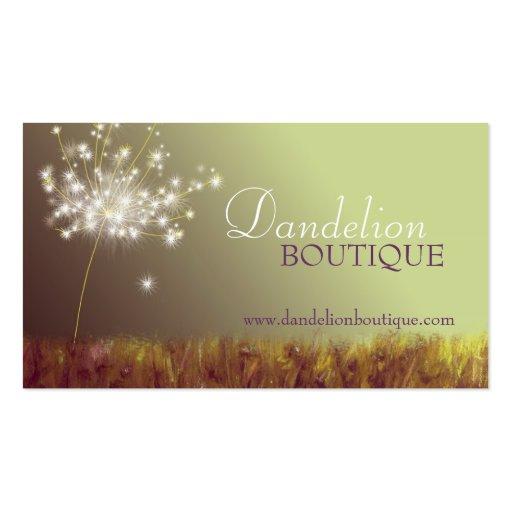 Dandelion unique fashion salon business cards zazzle for Cool fashion business cards