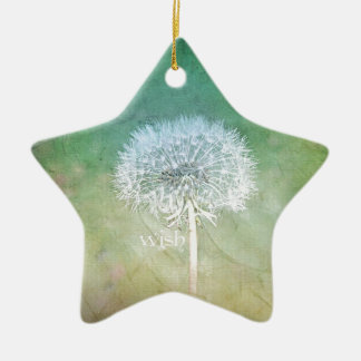 Dandelion Wish Dreamy Design Ceramic Ornament
