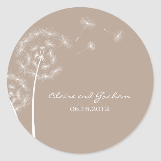 Dandelion Wish Favor Sticker or Envelope Seal