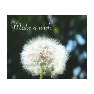 Dandelion Wish Stretched Canvas Prints
