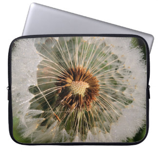 Dandelion Wishes  Blown green Art Print Laptop Sleeve