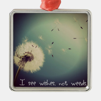 Dandelion Wishes Metal Ornament