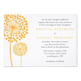 "Dandelion Wishes Wedding 5"" X 7"" Invitation Card"