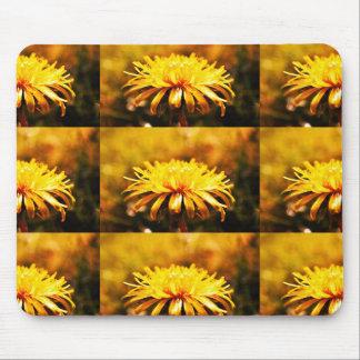 Dandelion Yellow Blossoms Flowers Vines Spring Mousepad