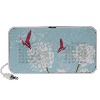 Dandelions and butterflies Doodle Mp3 Speakers