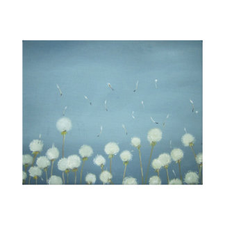 Dandelions Going To Seed - Wall Hanging!!! Stretched Canvas Print