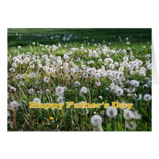 Dandelions Happy Father's Day Humor Card