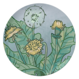 Dandelions  Illustration Plate
