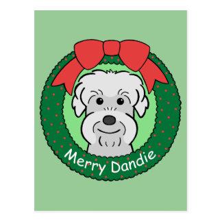 Dandie Dinmont Terrier Christmas Postcards
