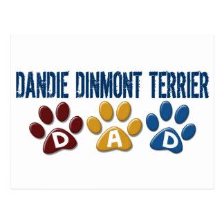 DANDIE DINMONT TERRIER Dad Paw Print 1 Postcard
