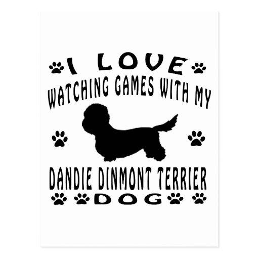 Dandie Dinmont Terrier designs Postcard
