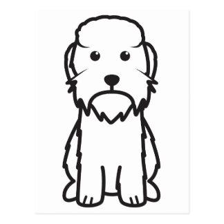 Dandie Dinmont Terrier Dog Cartoon Postcard