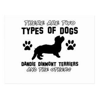 Dandie Dinmont Terrier dog designs Postcard
