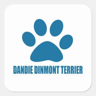 DANDIE DINMONT TERRIER DOG DESIGNS SQUARE STICKER
