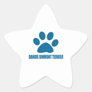 DANDIE DINMONT TERRIER DOG DESIGNS STAR STICKER