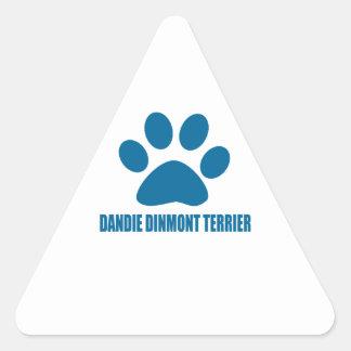 DANDIE DINMONT TERRIER DOG DESIGNS TRIANGLE STICKER