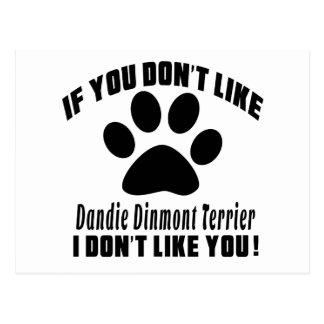 Dandie Dinmont Terrier Don't Like Designs Postcard