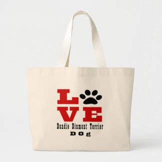 Dandie Dinmont Terrier Large Tote Bag
